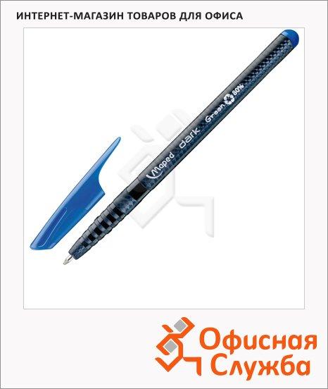 Ручка шариковая Maped Green Dark синяя, 0.6мм