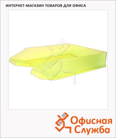 Лоток горизонтальный для бумаг Helit Economy А4, желтый, 2362618
