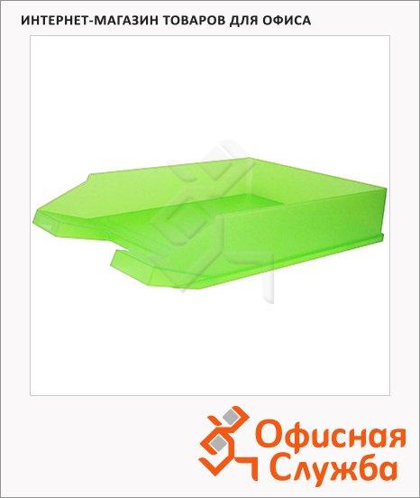 Лоток горизонтальный для бумаг Helit Economy А4, зеленый, 2362652