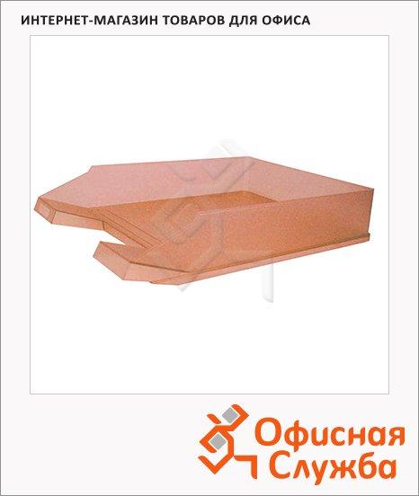 Лоток горизонтальный для бумаг Helit Economy А4-С4, оранжевый, 2362645