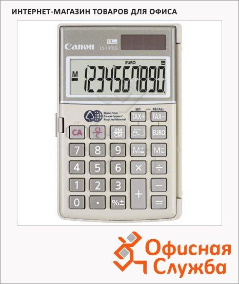 Калькулятор карманный Canon LS 10 H серый, 10 разрядов