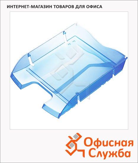 Лоток горизонтальный для бумаг Helit Greenlogic А4, голубой, 2363530