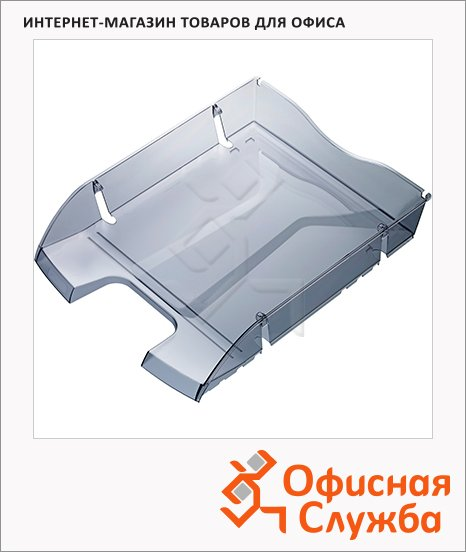 Лоток горизонтальный для бумаг Helit Greenlogic А4, серый, 2363508