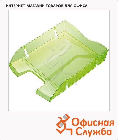 Лоток горизонтальный для бумаг Helit Greenlogic А4-С4, зеленый, 2363550