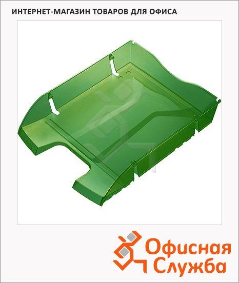 фото: Лоток горизонтальный для бумаг Greenlogic А4 темно-зеленый, 2363555