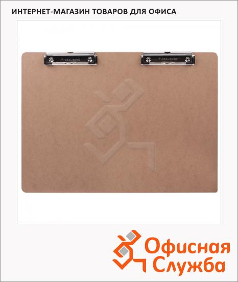 Клипборд без крышки Brauberg Eco коричневая, А3, 232227