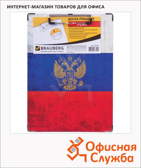 фото: Клипборд без крышки Brauberg Flag трехцветный А4, 232235