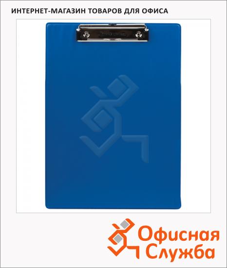 Клипборд без крышки Brauberg Number One синяя, А4, 232217