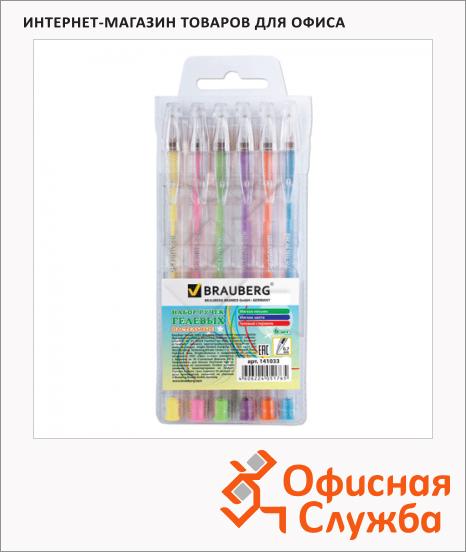 Набор ручек гелевых Brauberg Zero Kids 6 цветов, 0.7мм, 6шт/уп