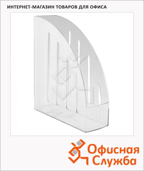 Накопитель вертикальный для бумаг Brauberg Energy А4, 85мм, прозрачный