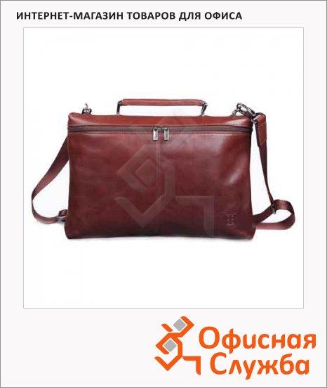 Портфель Sergio Belotti 350х280х50мм, коричневый, натуральная кожа
