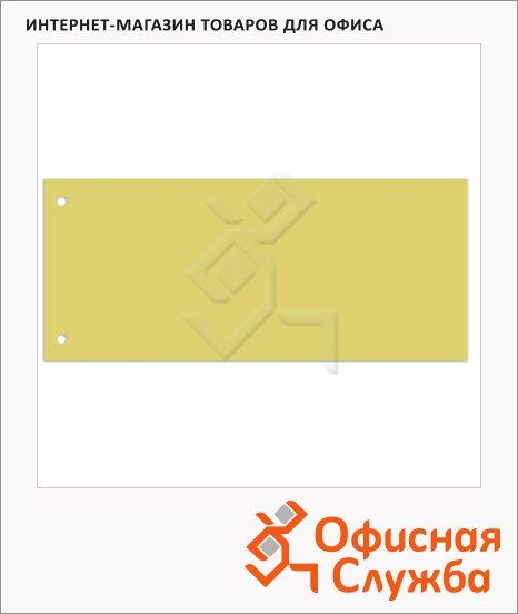 Разделительные полоски Brauberg желтые, 100 разделов, 240х105 мм