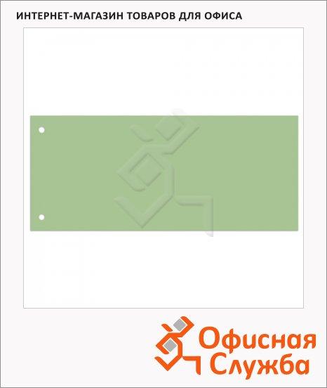 Разделительные полоски Brauberg зеленые, 100 разделов, 240х105 мм