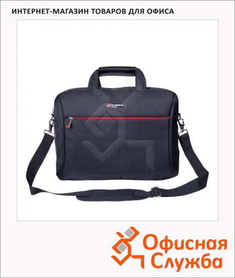 "Сумка для ноутбука Brauberg Control 2 15.6"", 260х390х40мм, черная"