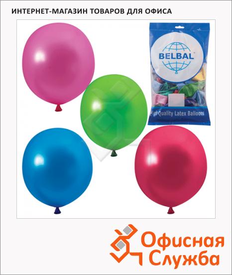 фото: Воздушные шары Веселая Затея 12 цветов металлик 36см, 50шт, в пакете, 1101-0025