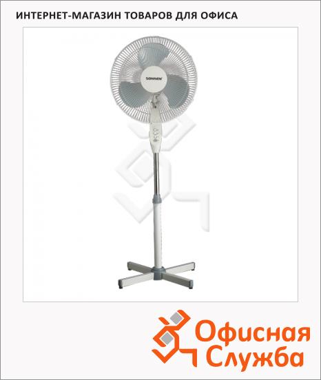 фото: Вентилятор напольный Sonnen Office Fan бело-серый 45 Вт, d=40см