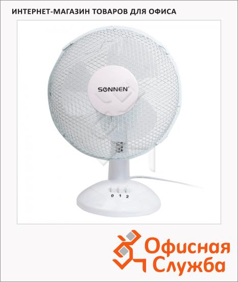 фото: Вентилятор настольный Sonnen Desk Fan бело-серый 25 Вт, d=23см