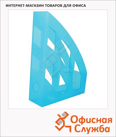 Накопитель вертикальный для бумаг Helit Economy А4, 75мм, голубой, 2361034