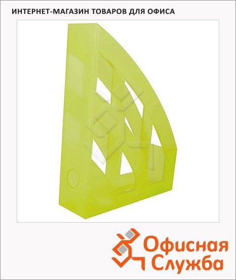 Накопитель вертикальный для бумаг Helit Economy А4, 75мм, желтый, 2361011