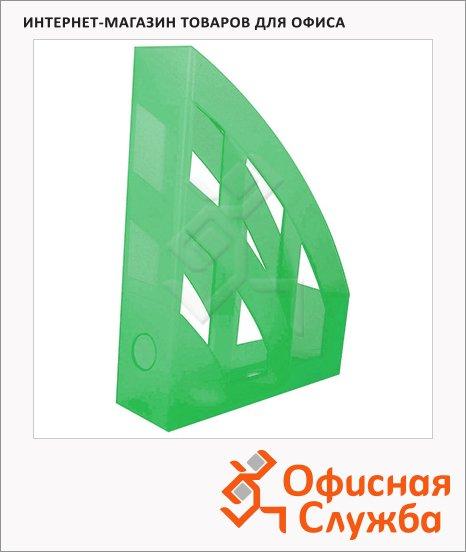 фото: Накопитель вертикальный для бумаг Helit Economy А4 75мм, зеленый, 2361050