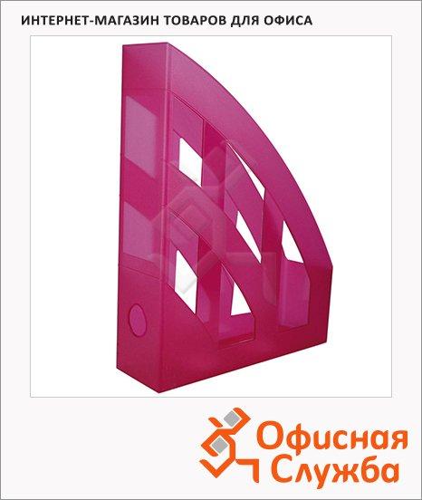 Накопитель вертикальный для бумаг Helit Economy А4, 75мм, малиновый, 2361026