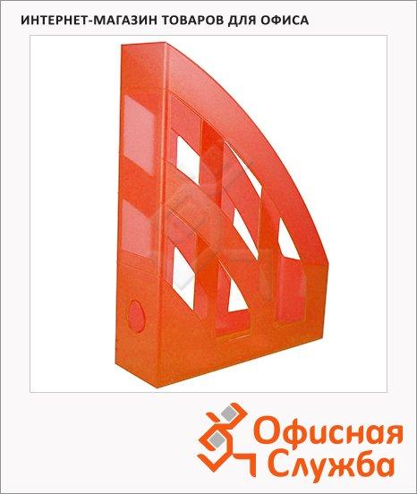 фото: Накопитель вертикальный для бумаг Helit Economy А4 75мм, оранжевый, 2361040
