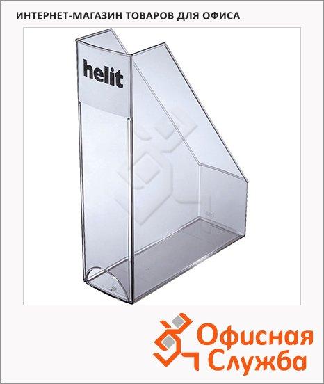 Накопитель вертикальный для бумаг Helit Economy Transparent А4, 85мм, прозрачный серый, 2361408