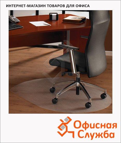 фото: Коврик под кресло Floortex овальный 1250х990мм 1,9мм, FC129919SR, для гладкой поверхности