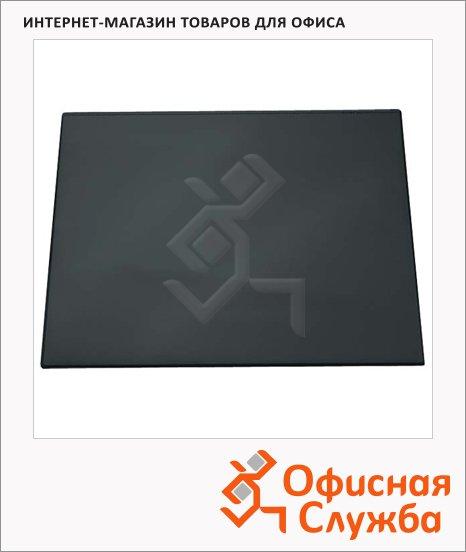 Коврик настольный для письма Helit 50х63см, с карманом, черный, 2522795