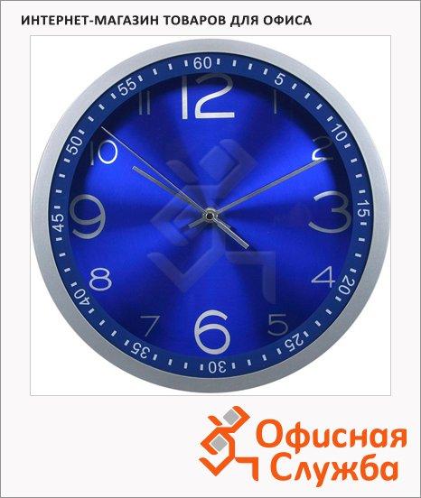 фото: Часы настенные Бюрократ синие d=30, круглые, R05P