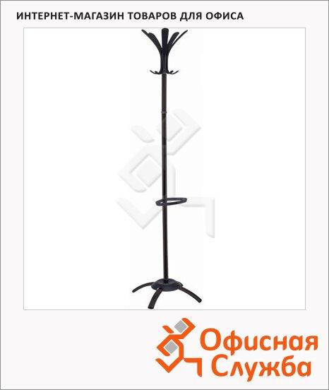 фото: Вешалка-стойка напольная 19-50 черная, крючки двойные, 1750мм