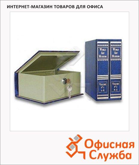 Кэшбокс Joma J-Book, 9х15х20см, ключевой замок, синий