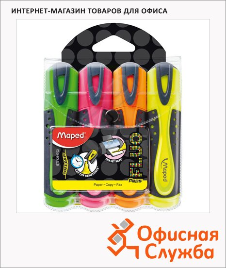 ���������������� Maped Fluo Pep's Soft ����� 4 �����, 1-5��, ��������� ����������