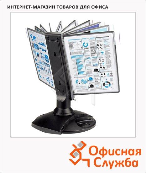 фото: Демосистема настольная Mega Office 10 панелей А4, черный, FDS008