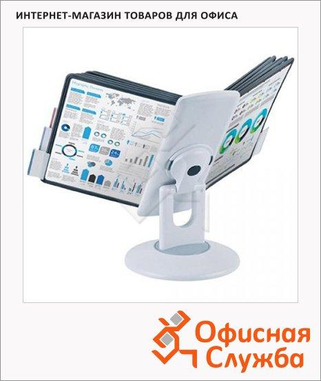 фото: Демосистема настольная Proмega Оffice 10 панелей А5, светло-серая, FDS501