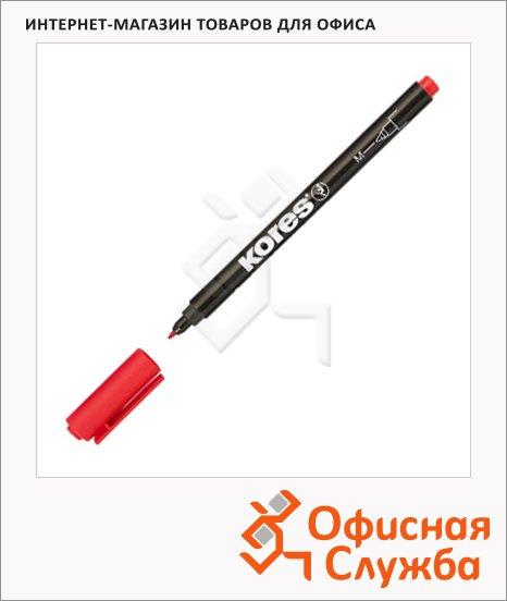 Маркер перманентный Kores красный, 1мм, круглый наконечник