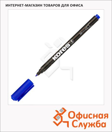 фото: Маркер перманентный Kores синий 1мм, круглый наконечник