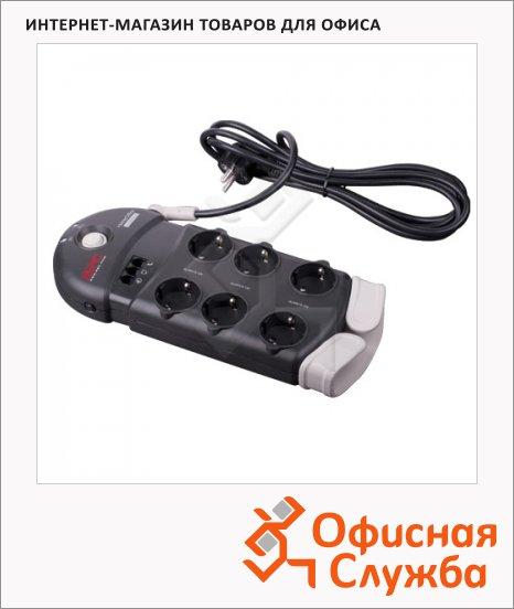 фото: Сетевой фильтр PH6T3-RS 6 розеток 2.4м, черный