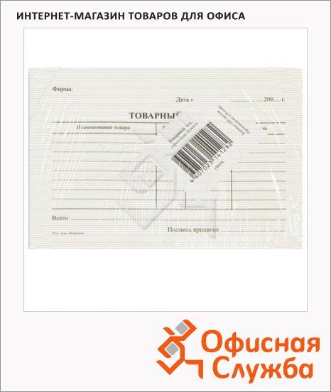 Бланк товарный чек А6, 97х134 мм, пустографка, 1кн.х100 листов, в термоусадочной пленке