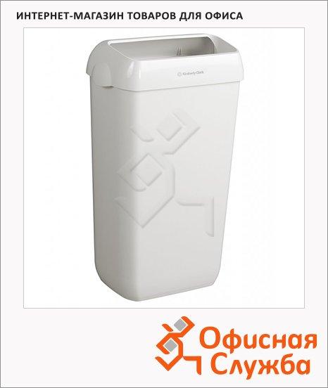 фото: Контейнер для мусора Kimberly-Clark Aquarius 6993 50л, с крепежом для стены, белый