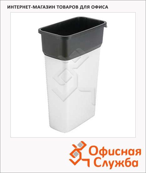 фото: Контейнер для мусора Vileda Pro Гея 70л большой, металл/черный, 137729