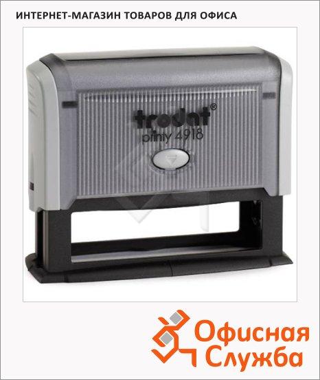 фото: Оснастка для прямоугольной печати Trodat Printy 75х15мм 4918, серая