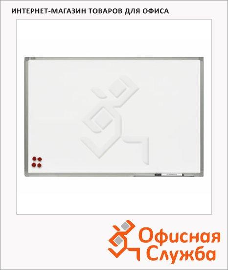 Доска магнитная маркерная 2x3 TSA 129 45х60см, лаковая, белая, алюминиевая рама