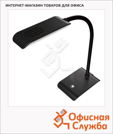 фото: Светильник настольный черный на подставке, светодиодный
