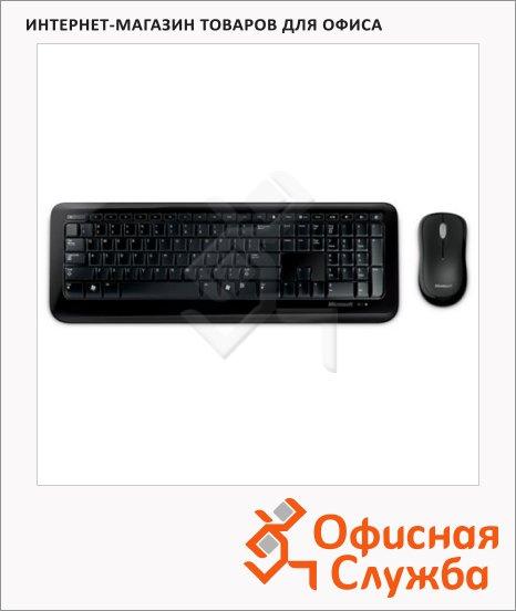 Набор клавиатура и мышь беспроводной Microsoft Wireless Optical Desktop, USB, черный