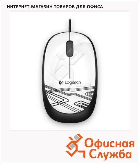 фото: Мышь проводная оптическая USB Logitech M105 1000dpi, белая