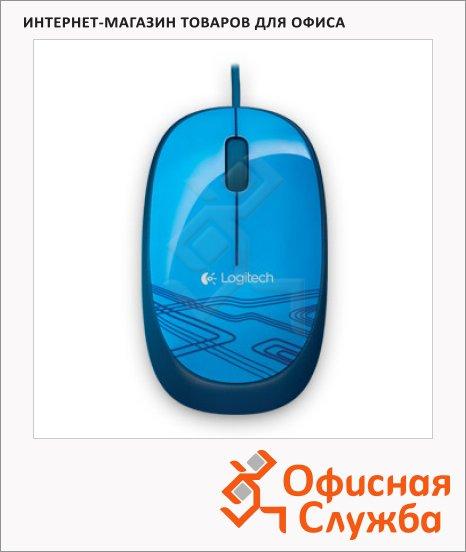 Мышь проводная оптическая USB Logitech M105, 1000dpi, синяя