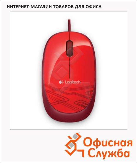 фото: Мышь проводная оптическая USB M105 красная