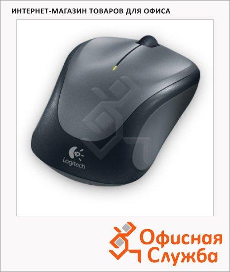 Мышь беспроводная оптическая USB Logitech M235, 1000dpi, темно-серая