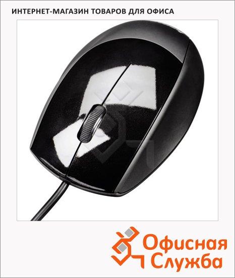 Мышь проводная оптическая USB Hama черная, 800dpi, H-52378